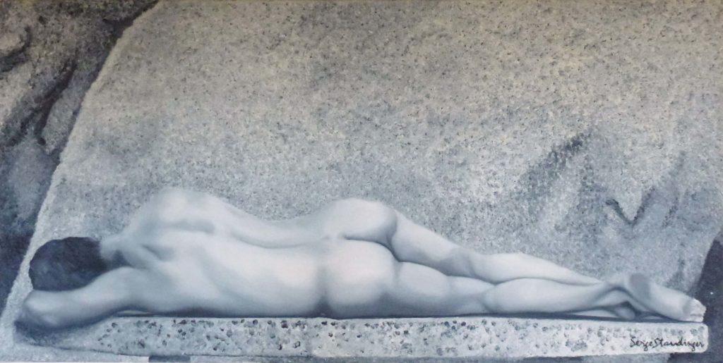 JOSH</br>Huile sur toile de lin 50 X 100 S.B.D - Vendu