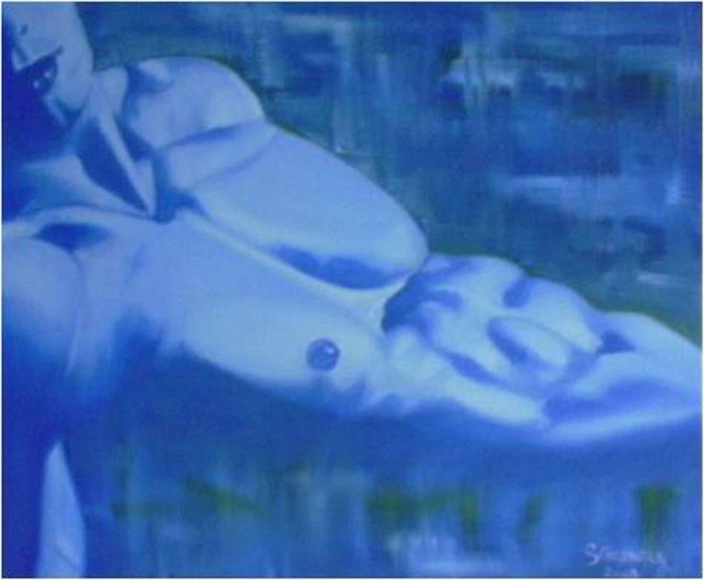 BLUE BOY</br>Huile sur toile de lin 36 X 46 S.B.D