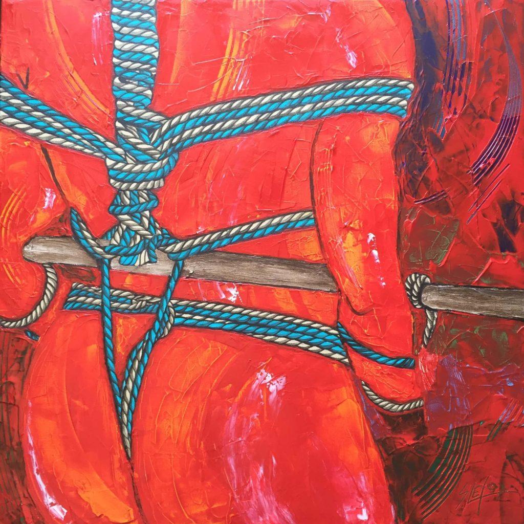 MATANAWA</br>Acrylique sur toile 60 X 60 S.B.D Vendu