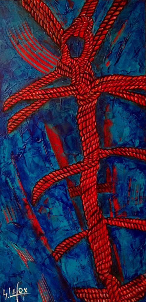 TEPPOU SHIBAR</br>Acrylique sur toile 25 X 50 S.B.G Vendu