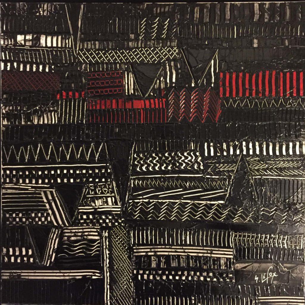 EXUBERANCE</br>Acrylique sur toile 80 X 80 S.B.G