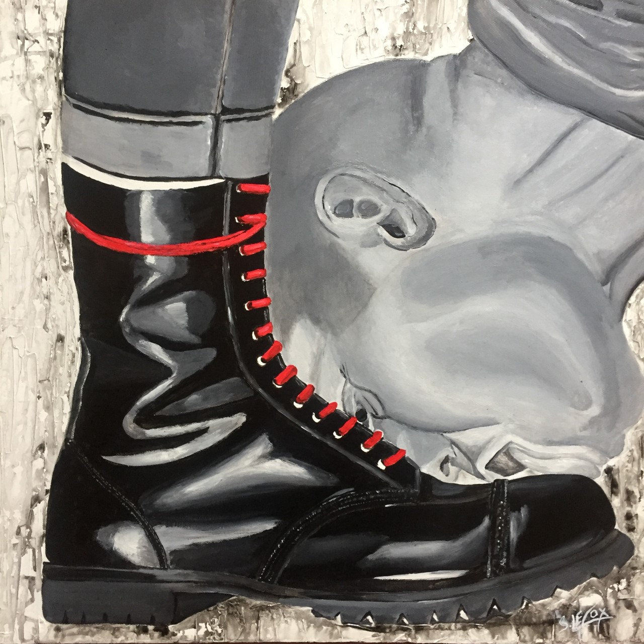 Boot leek on Schönberg</br> Acrylic on canvas 50 X 50 SBD
