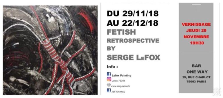 serge lefox painting fetish retrospective one way artist paris gay lgbt